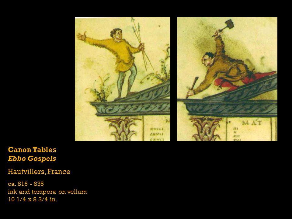 Canon Tables Ebbo Gospels Hautvillers, France