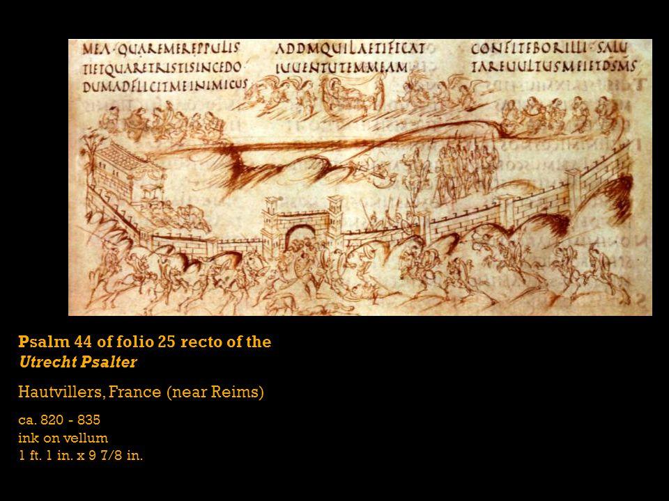 Psalm 44 of folio 25 recto of the Utrecht Psalter