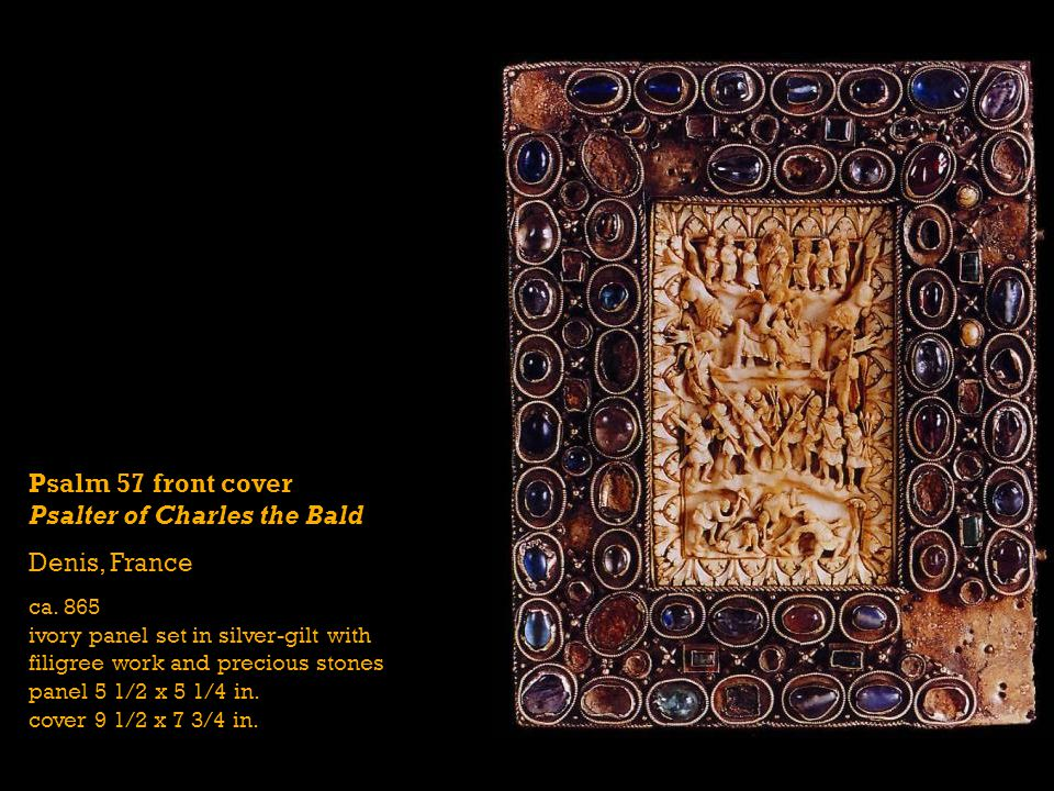 Psalm 57 front cover Psalter of Charles the Bald Denis, France