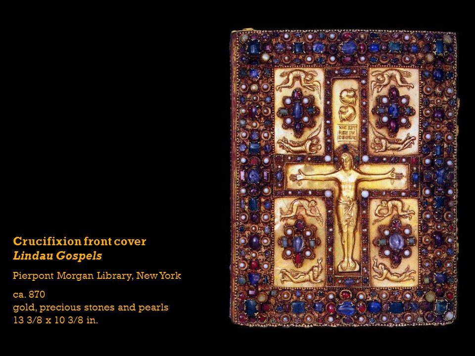 Crucifixion front cover Lindau Gospels