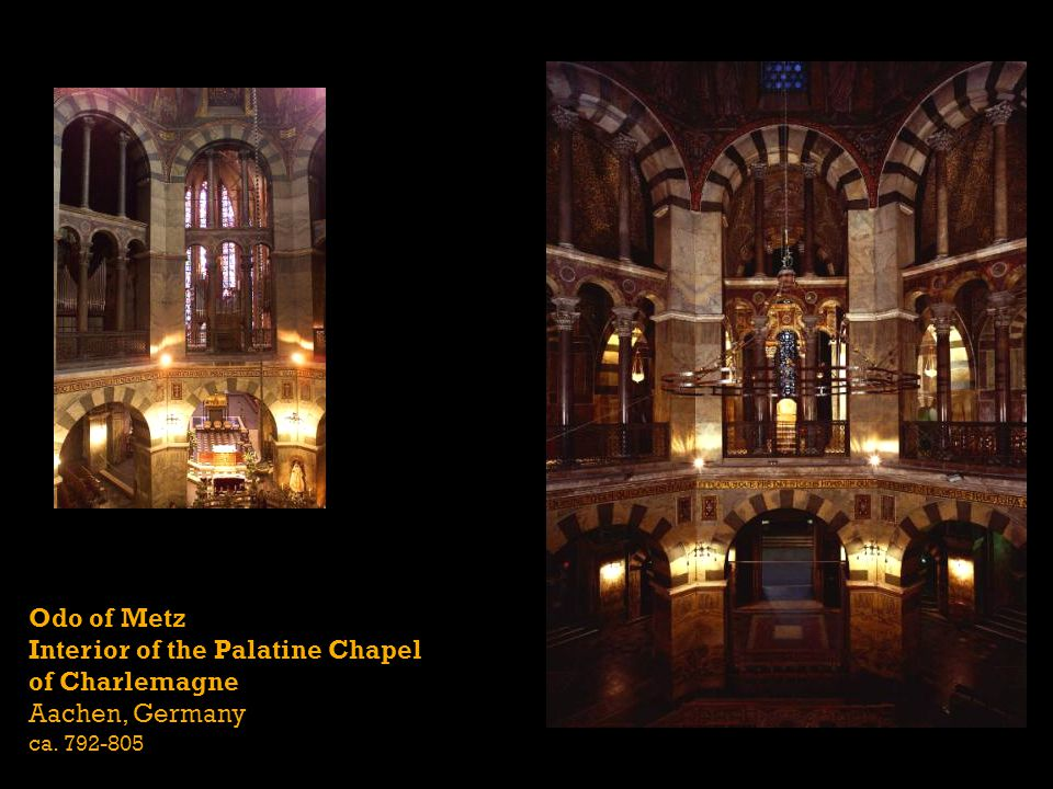 Interior of the Palatine Chapel of Charlemagne Aachen, Germany