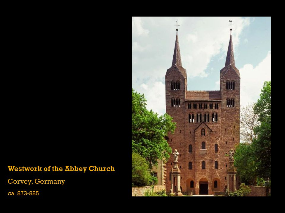 Westwork of the Abbey Church Corvey, Germany