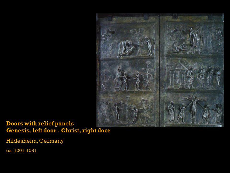 Doors with relief panels Genesis, left door - Christ, right door