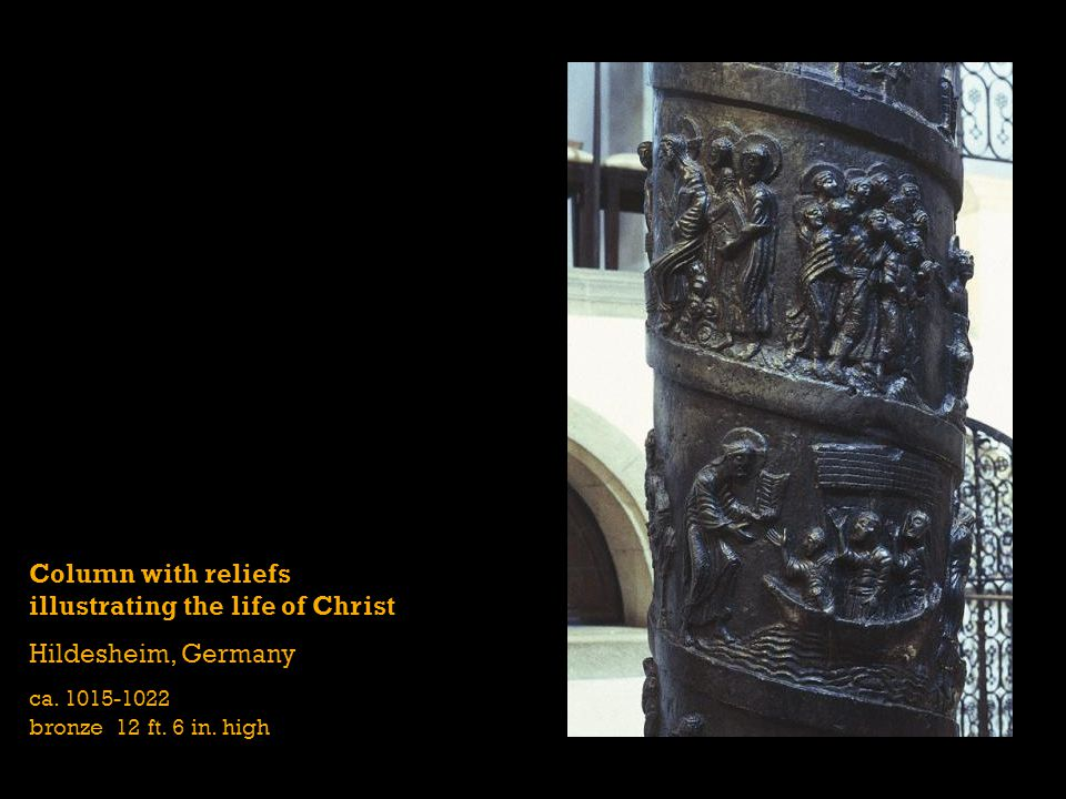 Column with reliefs illustrating the life of Christ