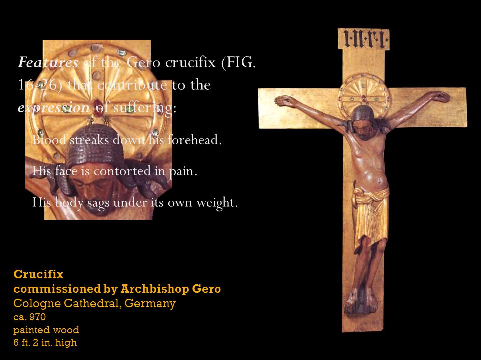 Features of the Gero crucifix (FIG