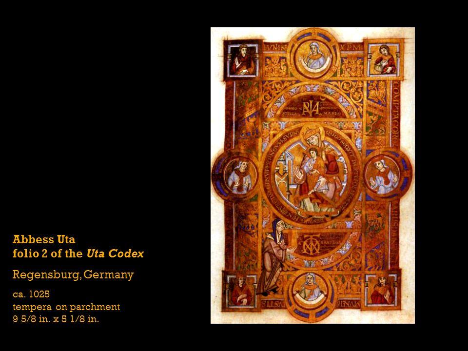 Abbess Uta folio 2 of the Uta Codex Regensburg, Germany