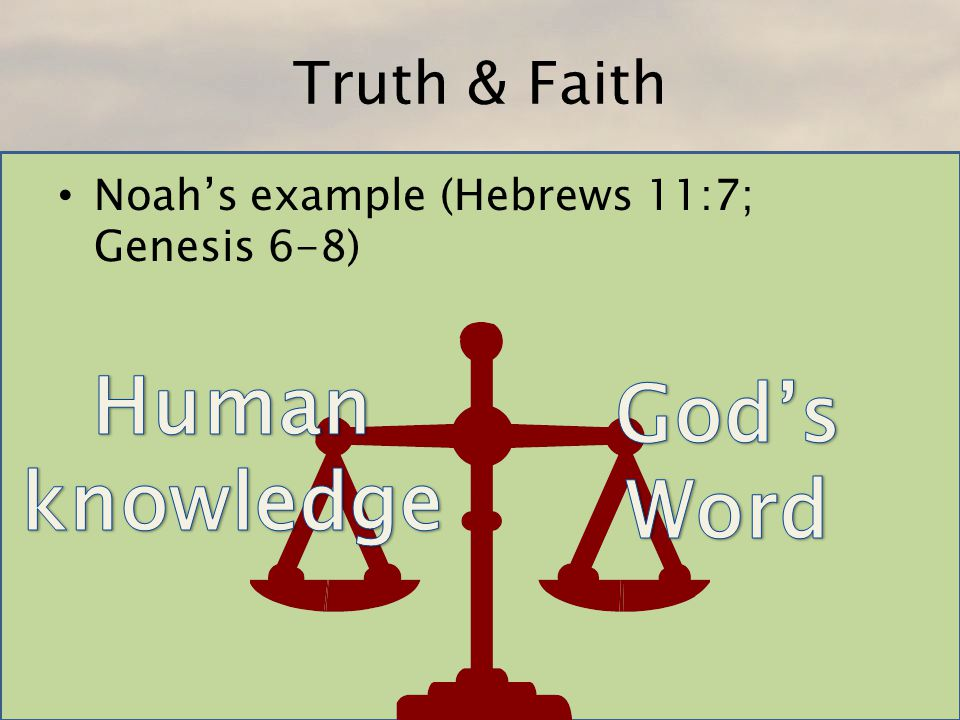 Human knowledge God's Word