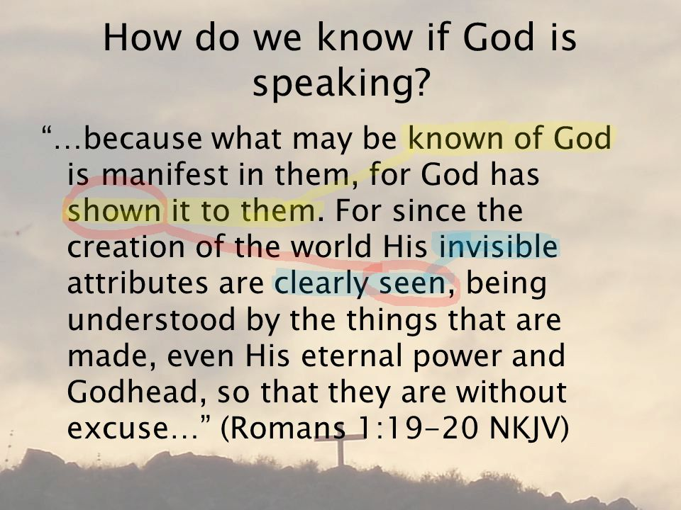 How do we know if God is speaking