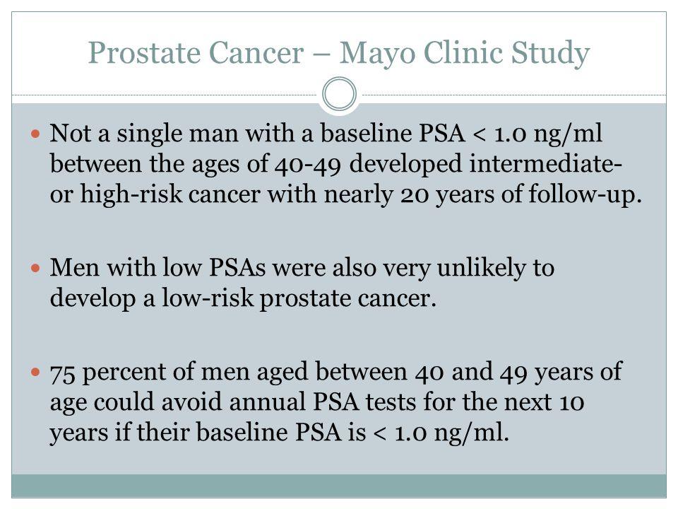 Prostate Cancer – Mayo Clinic Study