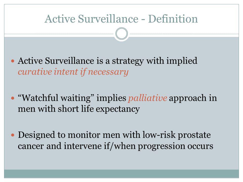 Active Surveillance - Definition