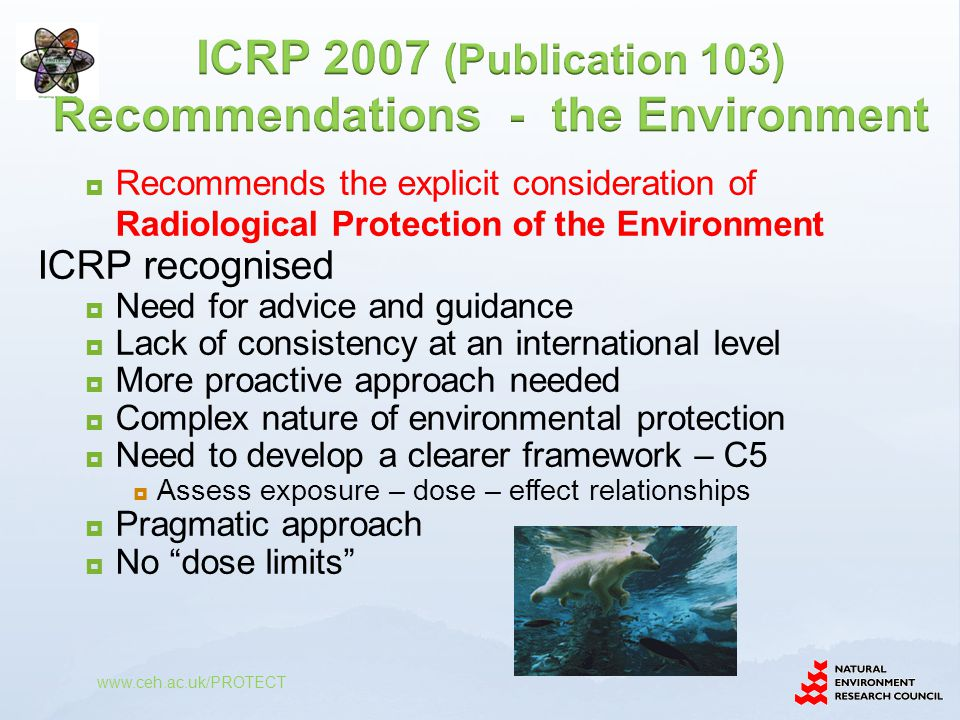 ICRP 2007 (Publication 103) Recommendations - the Environment