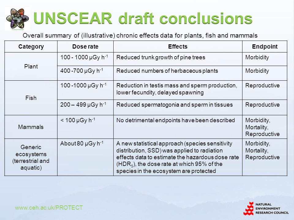 UNSCEAR draft conclusions