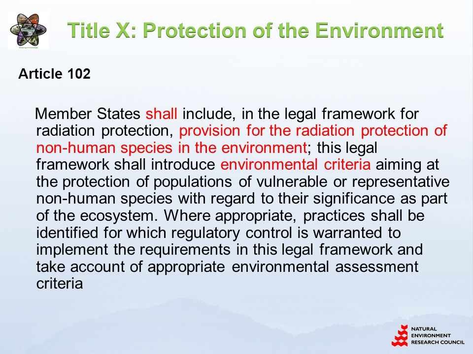 Title X: Protection of the Environment