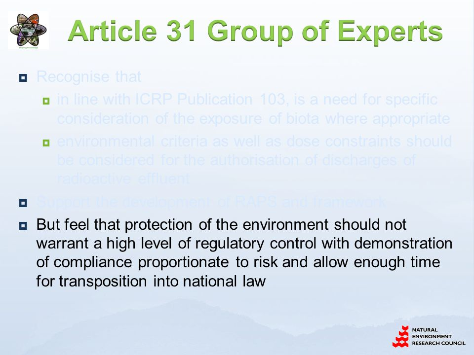 Article 31 Group of Experts