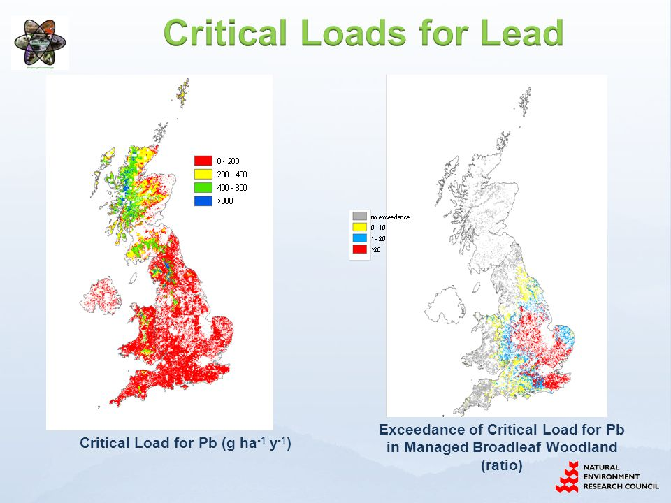 Critical Loads for Lead