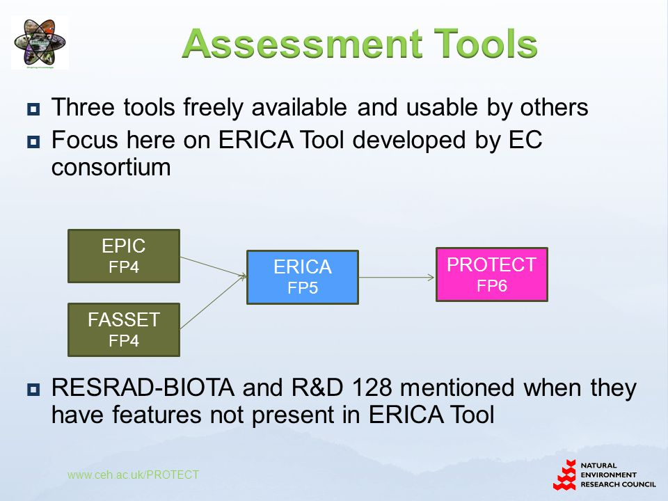Assessment Tools Three tools freely available and usable by others