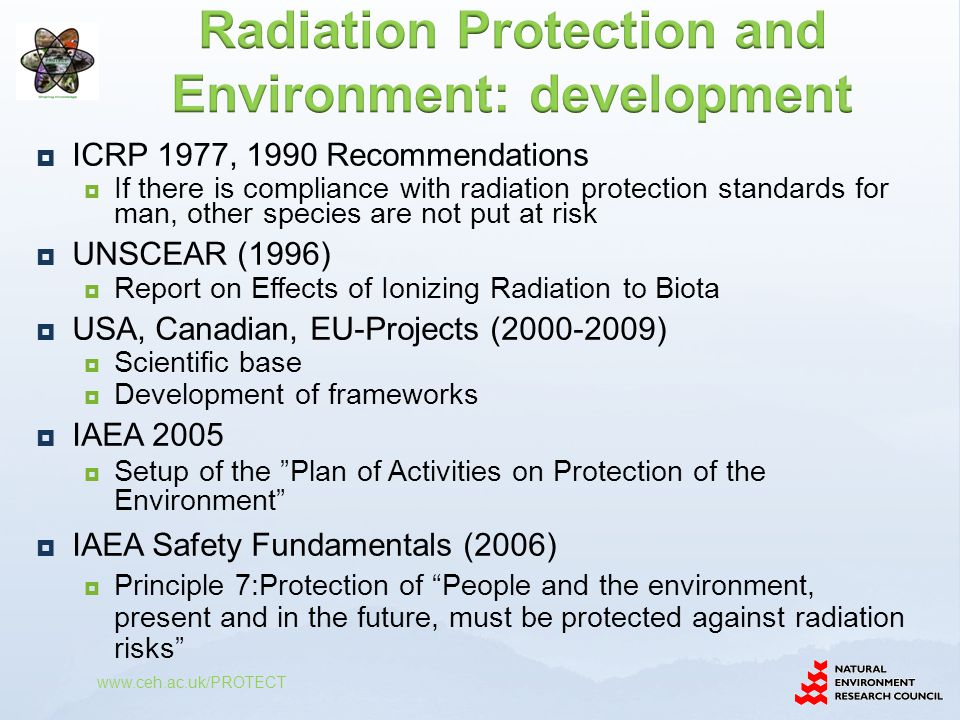 Radiation Protection and Environment: development