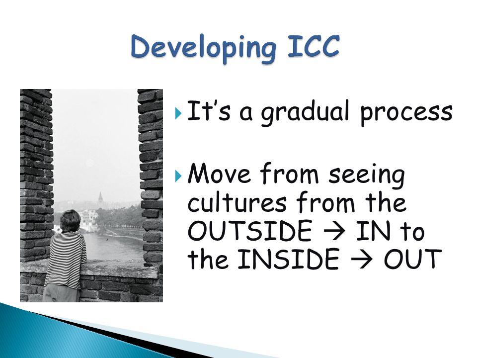 Developing ICC It's a gradual process