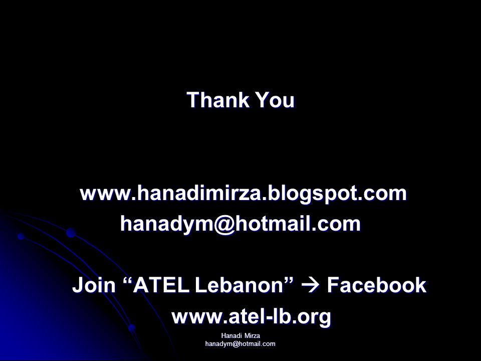 Join ATEL Lebanon  Facebook