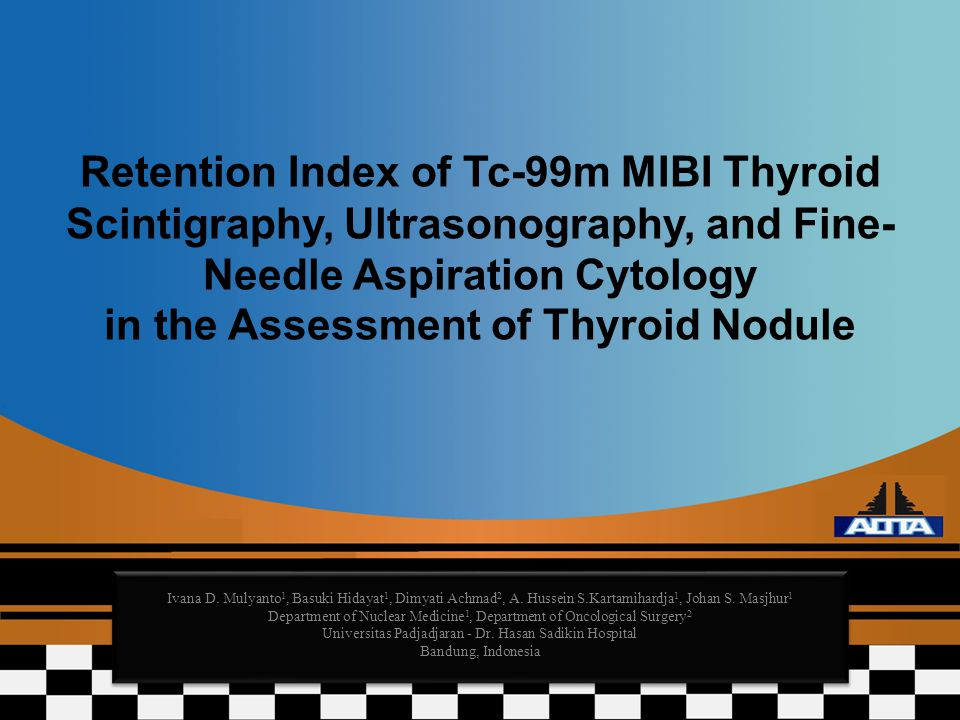 Retention Index of Tc-99m MIBI Thyroid Scintigraphy, Ultrasonography, and Fine-Needle Aspiration Cytology in the Assessment of Thyroid Nodule