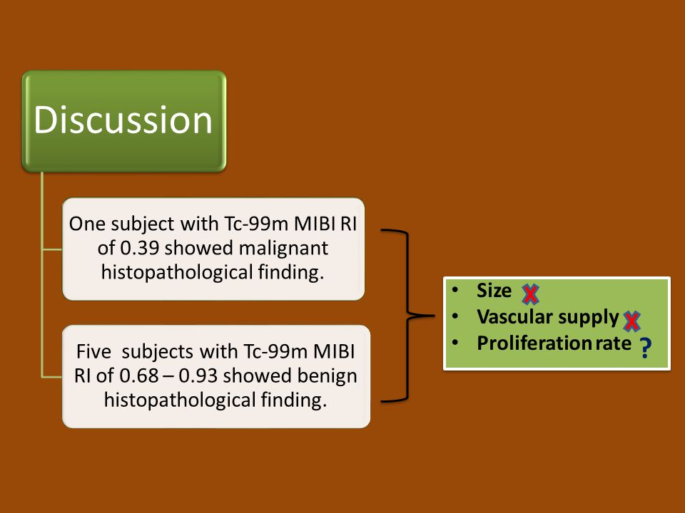 Size Vascular supply Proliferation rate Discussion