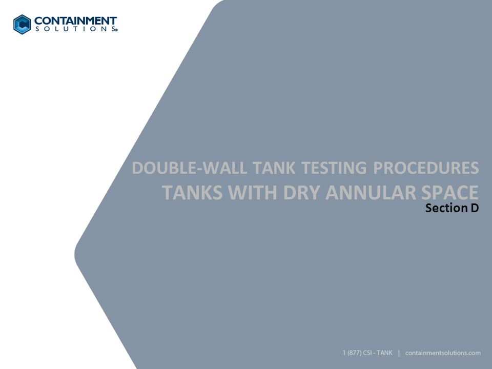 Tanks with dry annular space