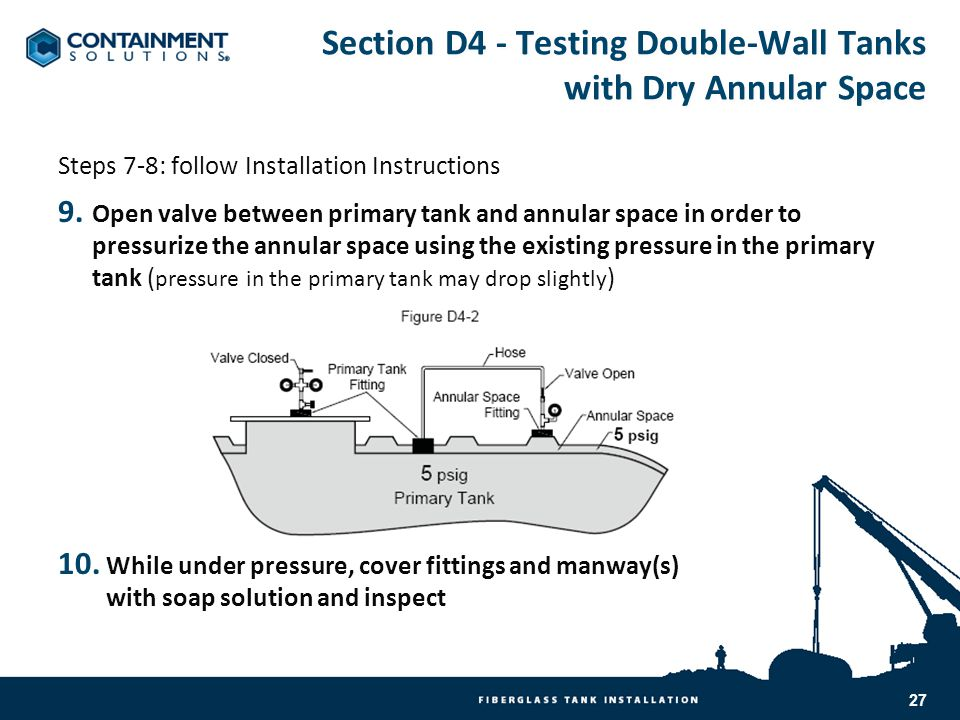Section D4 - Testing Double-Wall Tanks with Dry Annular Space