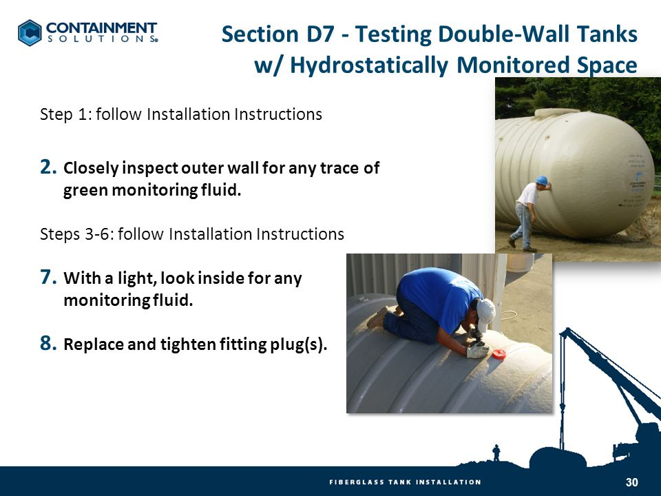 Section D7 - Testing Double-Wall Tanks w/ Hydrostatically Monitored Space
