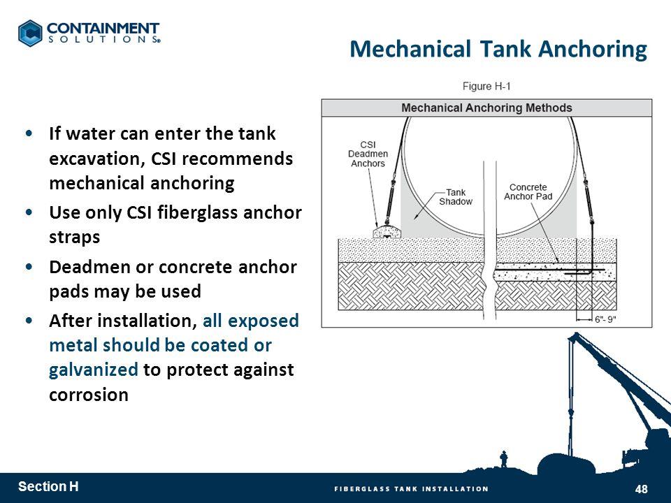 Mechanical Tank Anchoring
