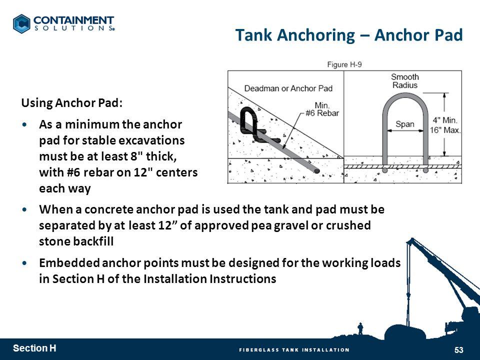 Tank Anchoring – Anchor Pad