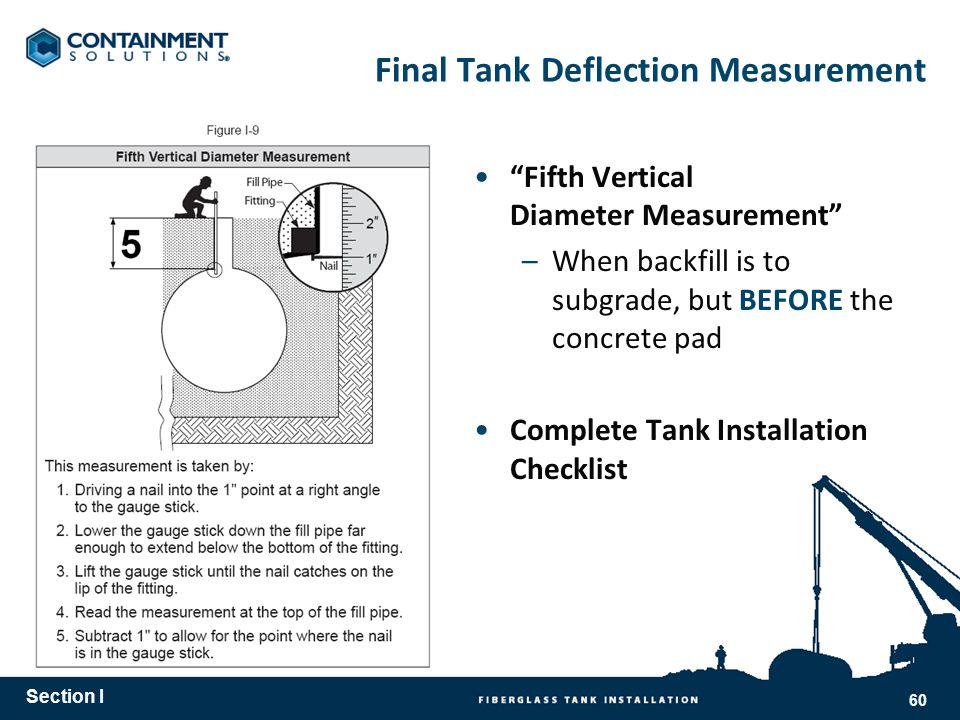 Final Tank Deflection Measurement