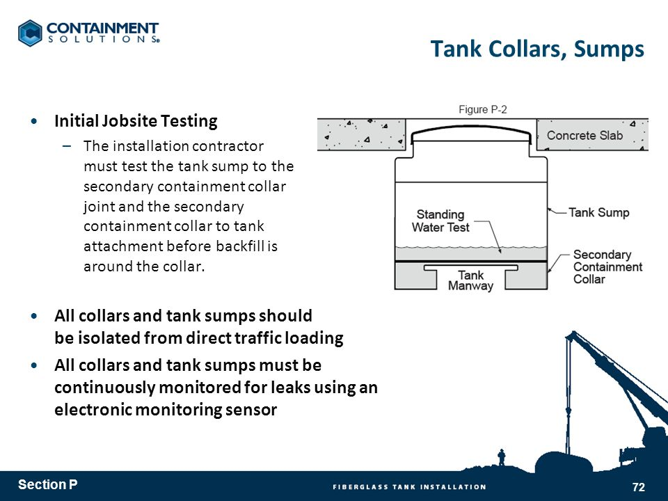 Tank Collars, Sumps Initial Jobsite Testing