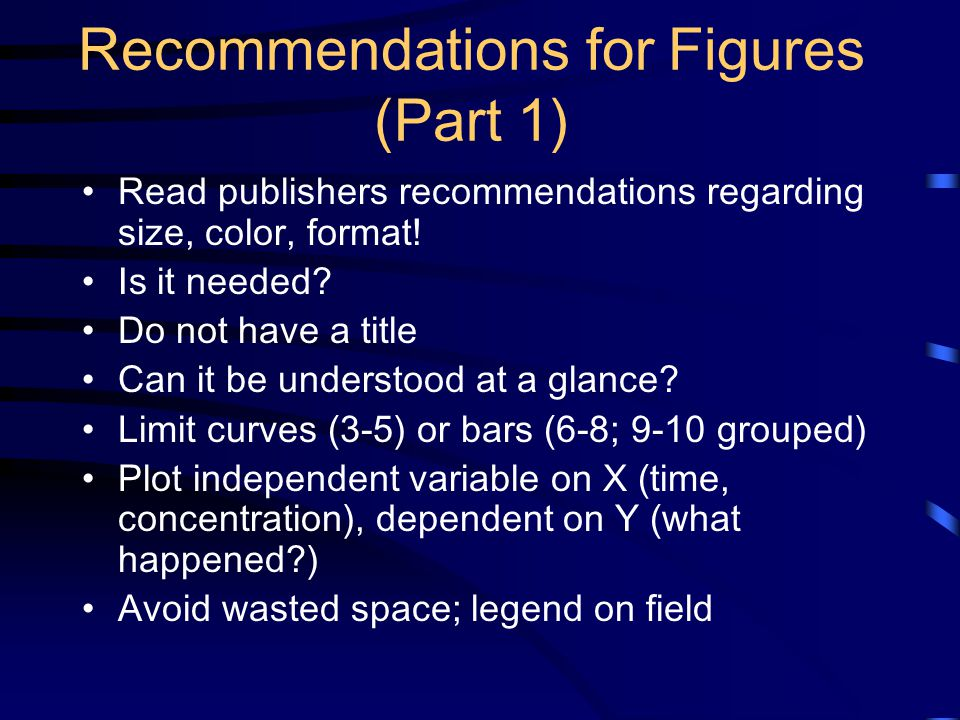 Recommendations for Figures (Part 1)