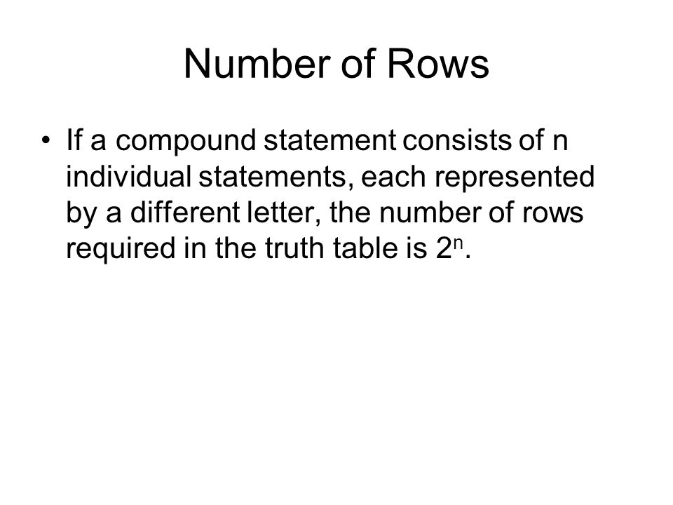 Number of Rows