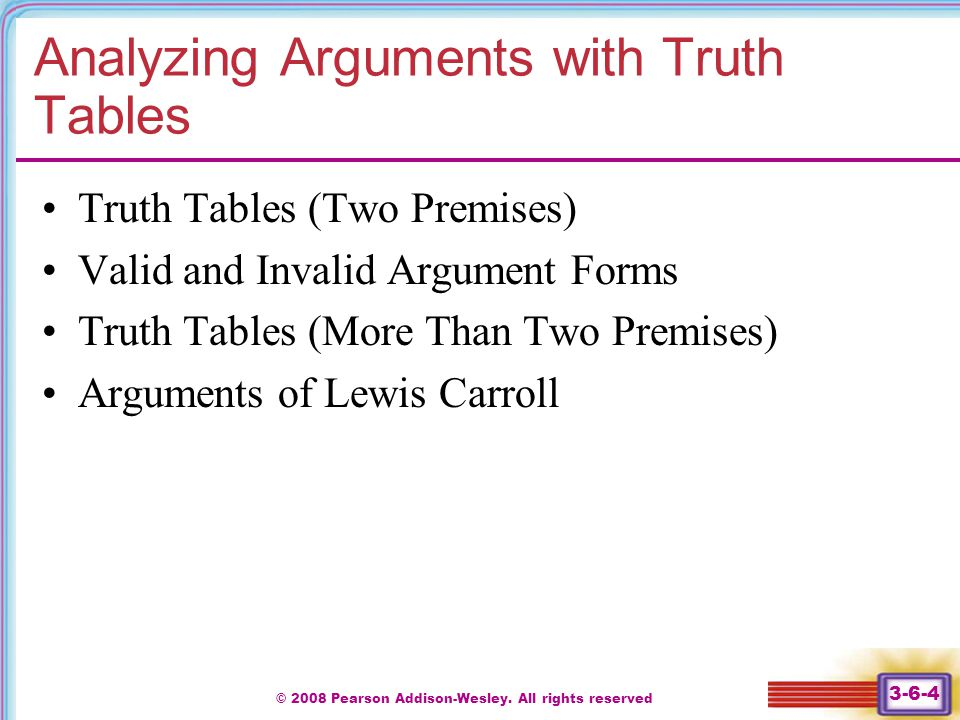 Analyzing Arguments with Truth Tables