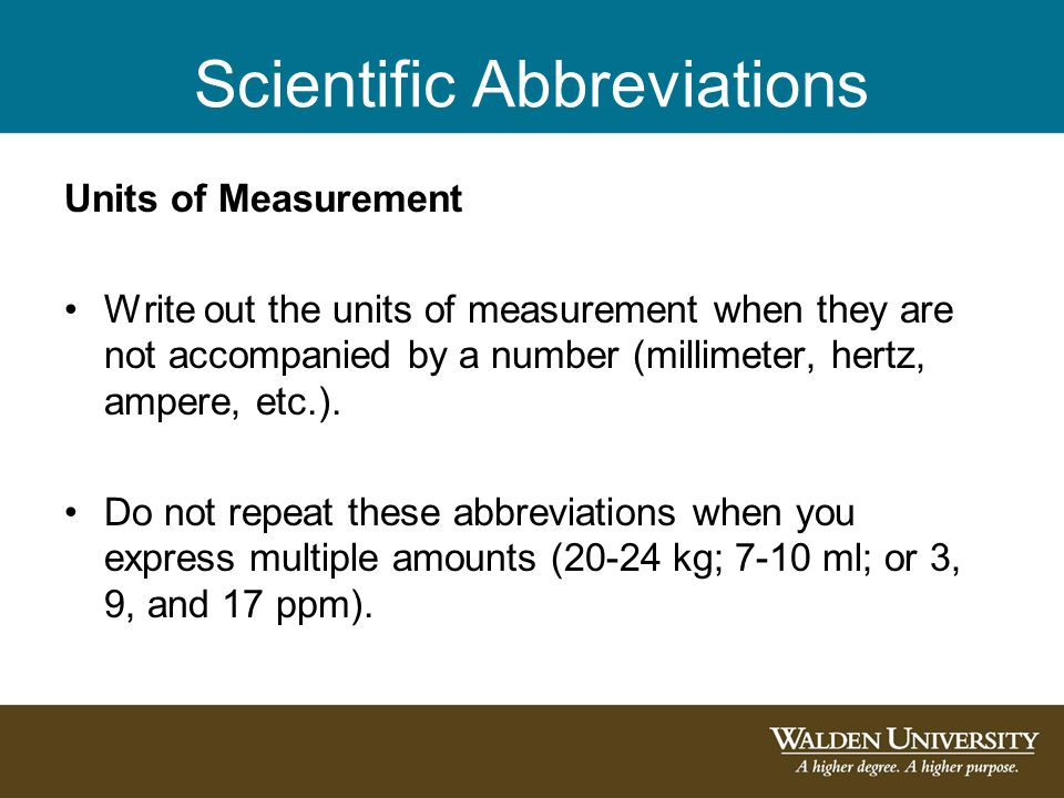 Scientific Abbreviations