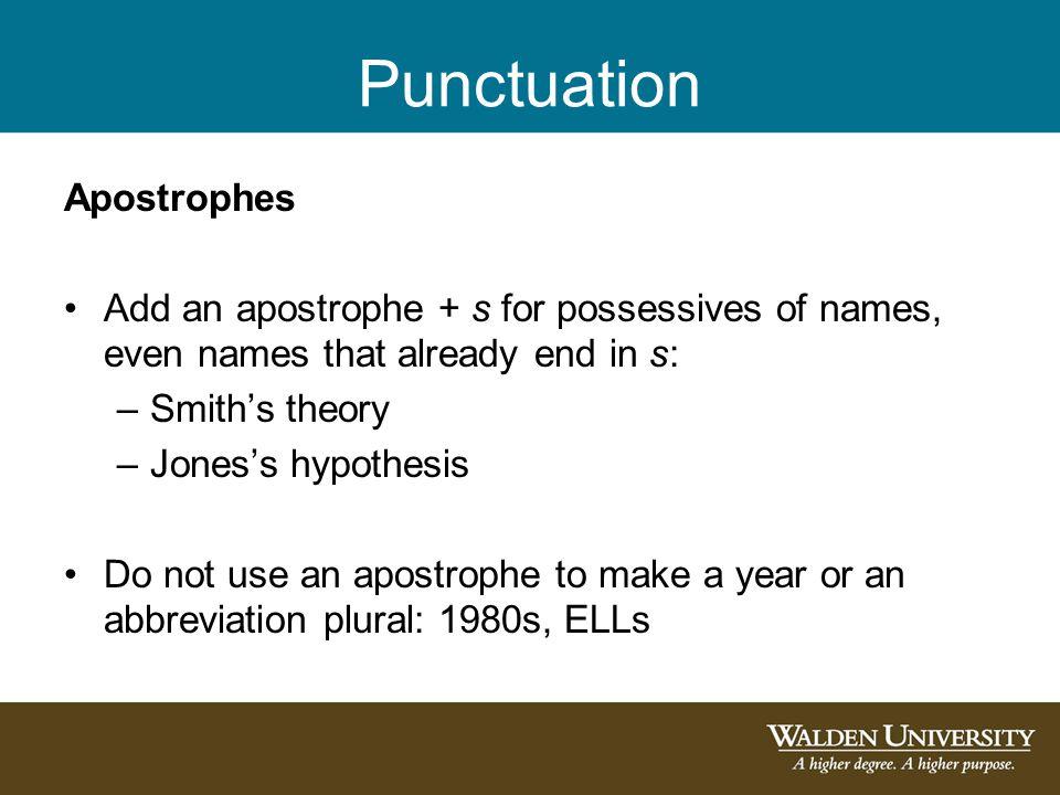 Punctuation Apostrophes
