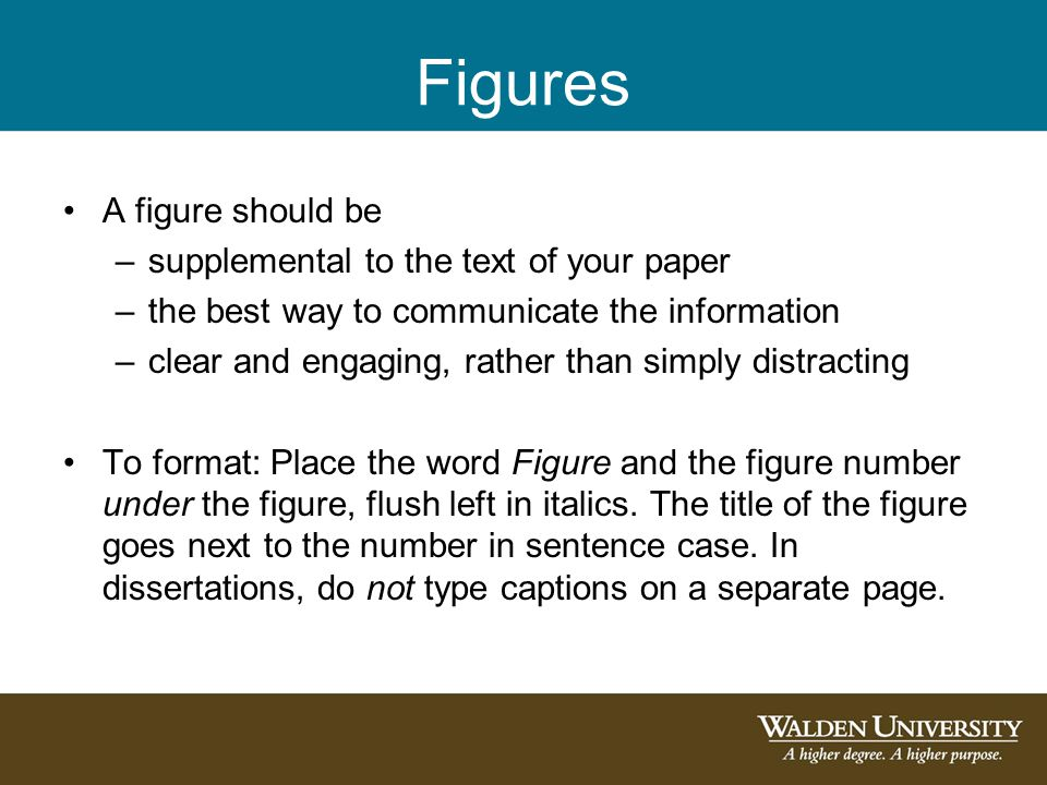 Figures A figure should be supplemental to the text of your paper