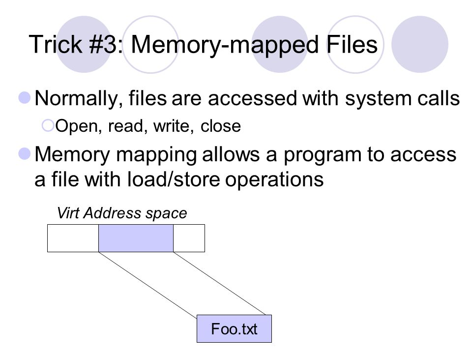 Trick #3: Memory-mapped Files