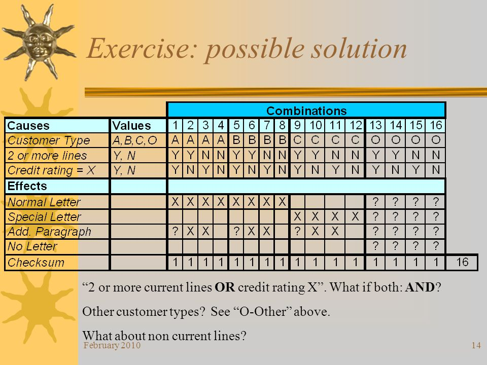 Exercise: possible solution
