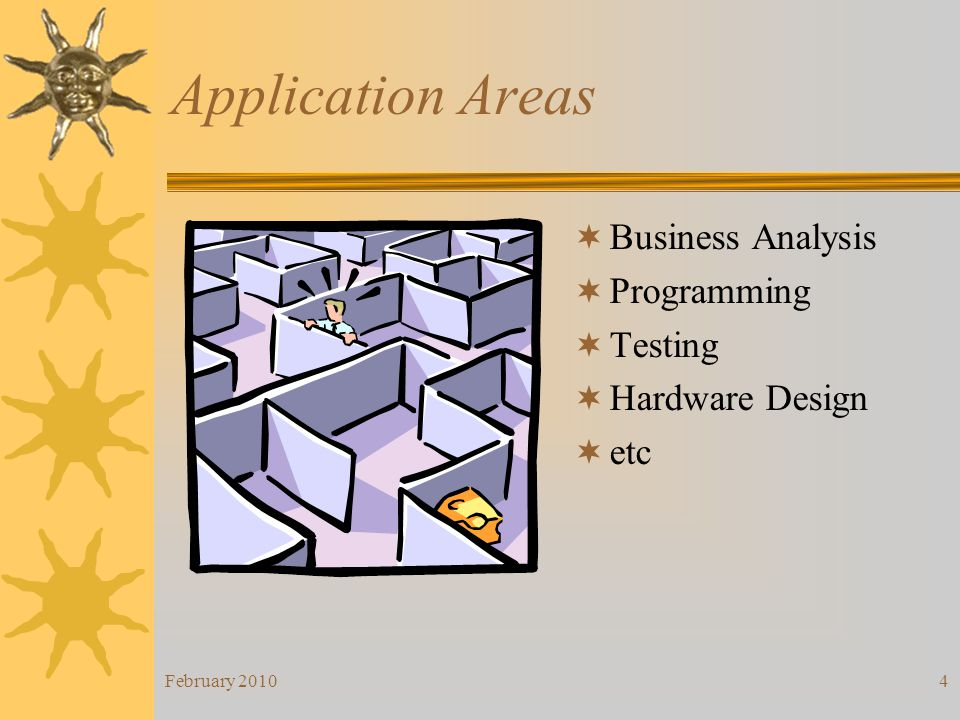 Application Areas Business Analysis Programming Testing