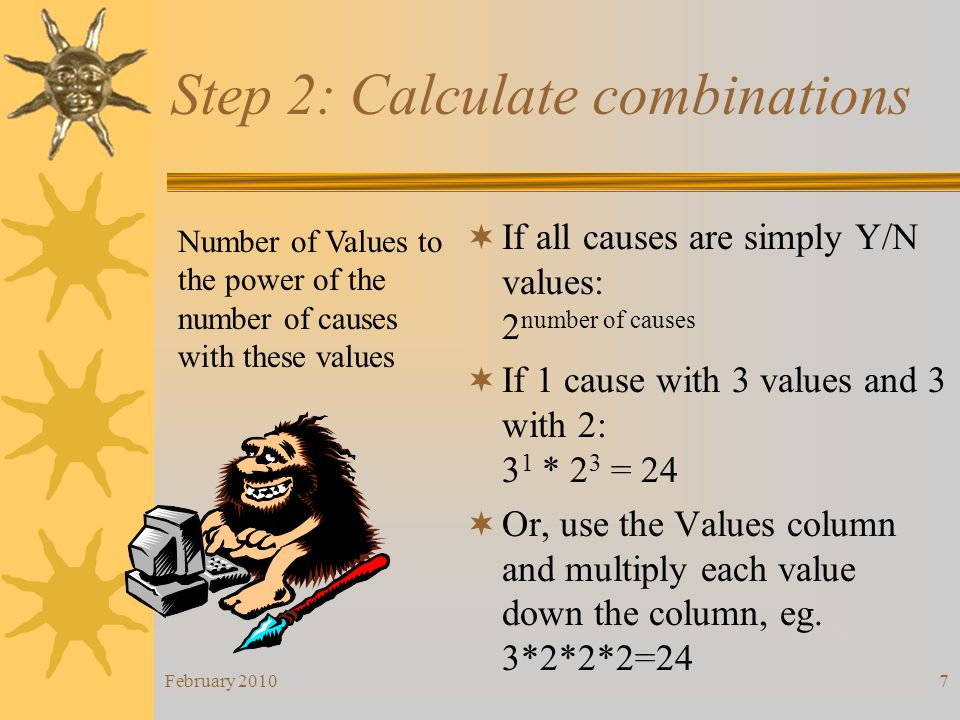Step 2: Calculate combinations