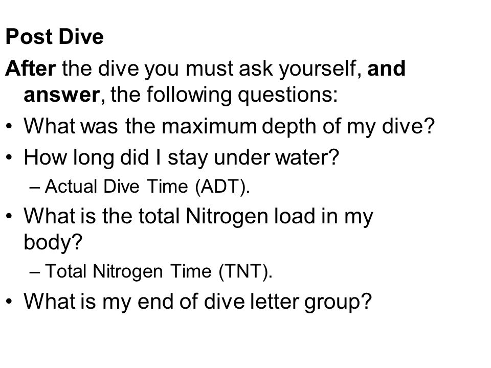 What was the maximum depth of my dive