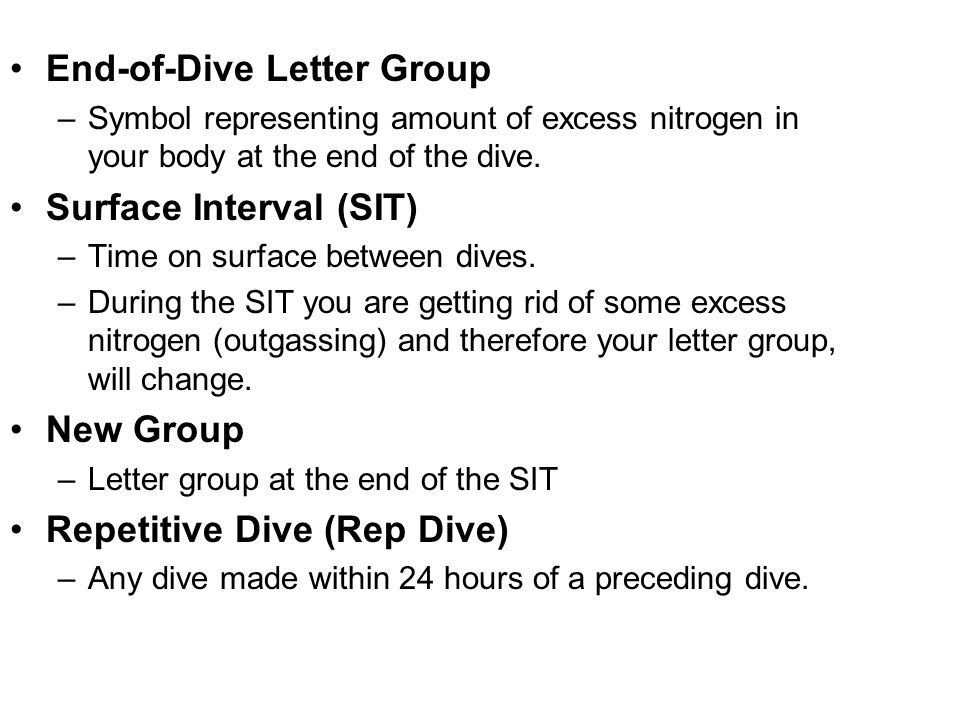 End-of-Dive Letter Group