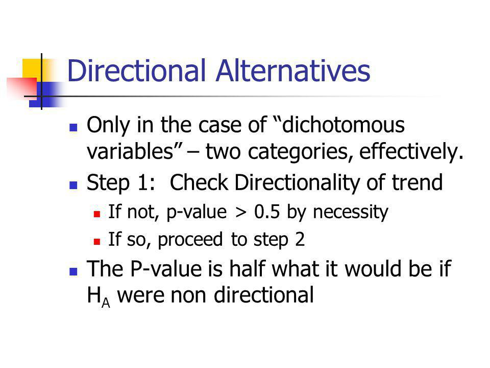 Directional Alternatives