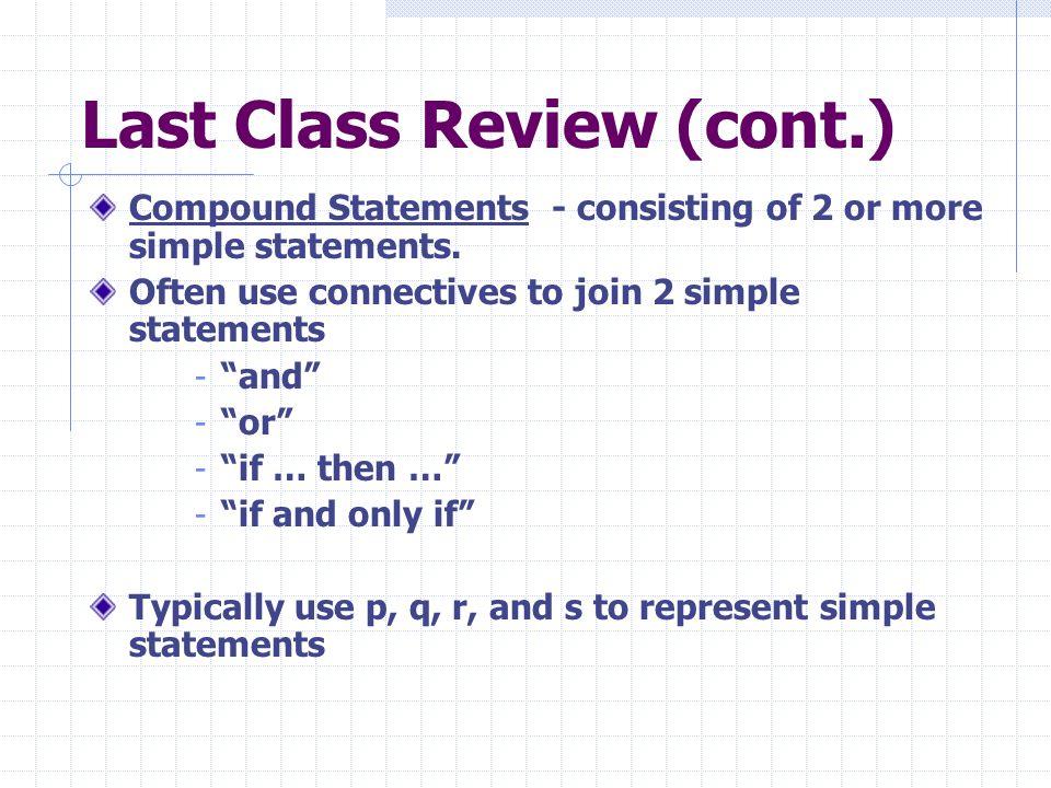 Last Class Review (cont.)