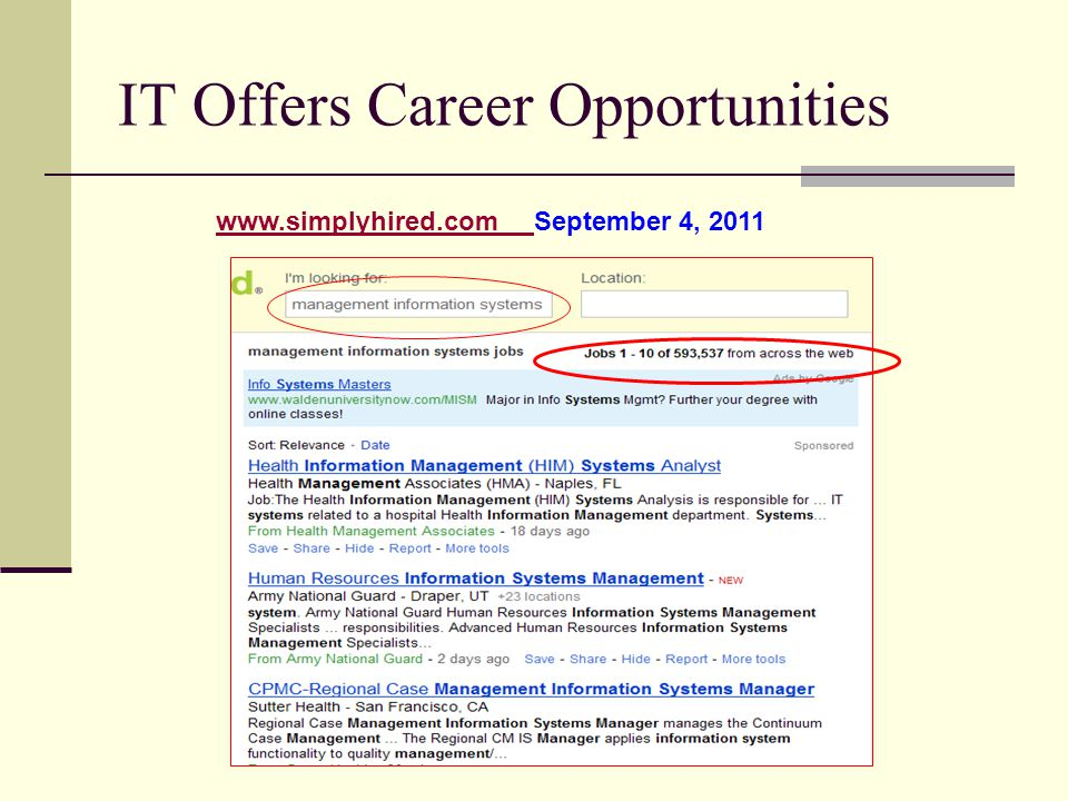 IT Offers Career Opportunities