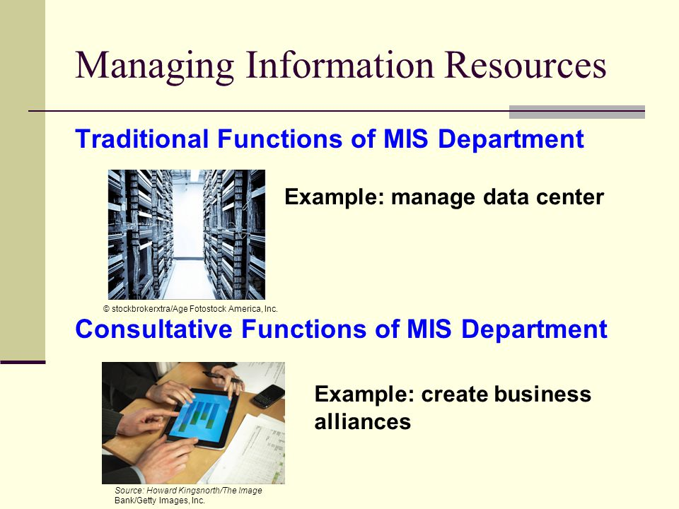 Managing Information Resources