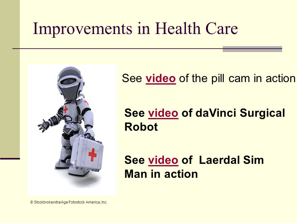 Improvements in Health Care
