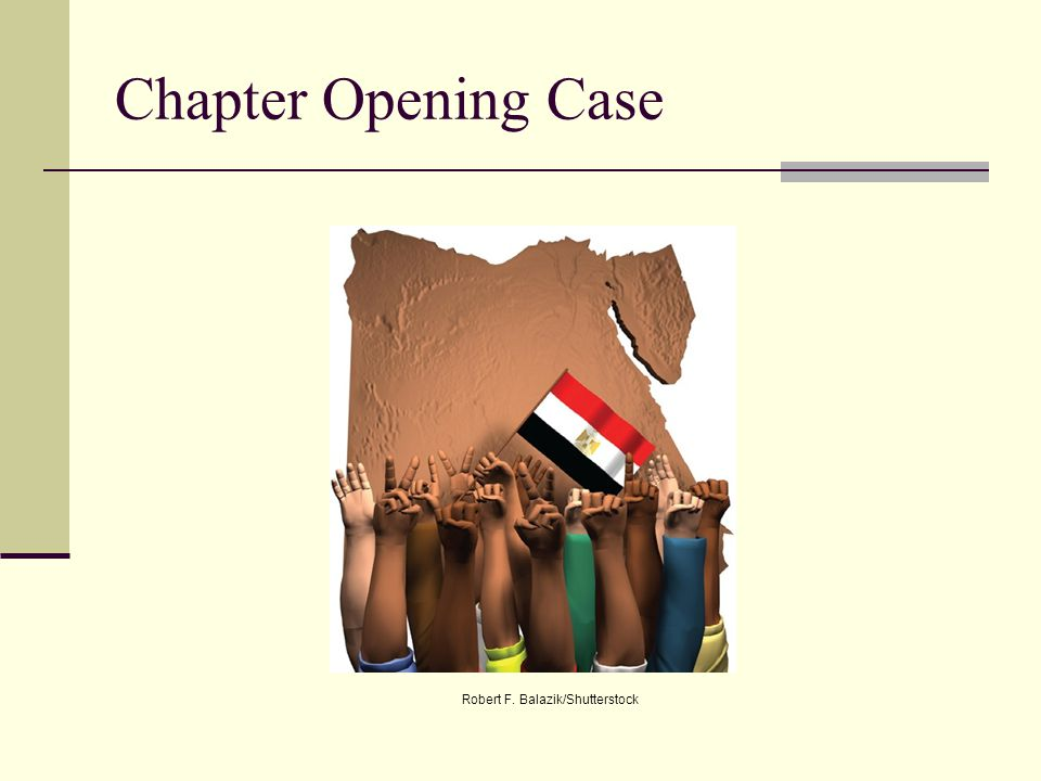Chapter Opening Case Robert F. Balazik/Shutterstock